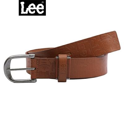 【书香节 跨店每满200减100】Lee男式腰带L16192L01C3D黄褐色男士皮带真皮皮带