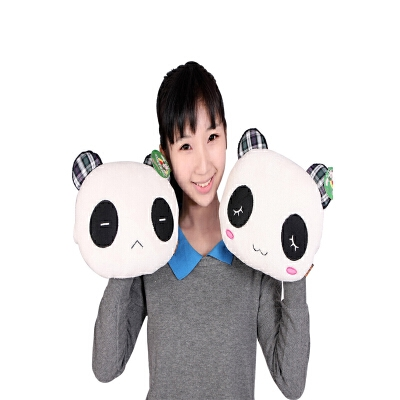 靠垫可爱情侣公仔生日礼物女生熊猫抱枕毛绒玩具