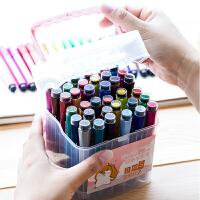 水彩笔粗头大容量宝宝涂鸦24色画笔可水洗有带印章的水彩笔专业美术36色绘画套装学生水彩笔幼儿园儿童用彩笔