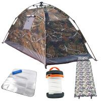 露营野外钓鱼小帐篷单人室内自动便携装户外1人防雨速开超轻四季SN6565 +灯+充气垫