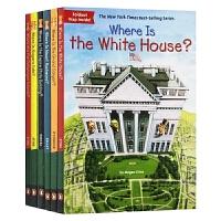 Where Is 美国景点主题系列套装6册 英文原版 美国白宫 总统山在哪里 少儿科普读物 儿童桥梁章节书 Who Wa