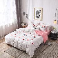 宝宝绒毛巾绣床上四件套珊瑚绒加厚保暖双面法兰绒被套床单公主风