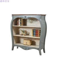 美式田园橱柜小户型迷你储物柜子地中海风格家具靠墙书柜展示柜 0.8-1米宽