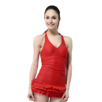 YINGFA英发 女士连体裙式泳衣YF1609 耐氯游泳