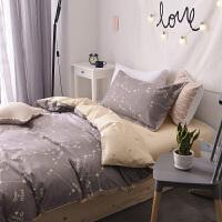 纯棉单人床上三件套大初高中学生宿舍被套床单床上用品0.9m 1.2米