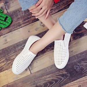 环球 小白鞋秋季女新款百搭韩版休闲鞋透气学生板鞋街拍帆布鞋
