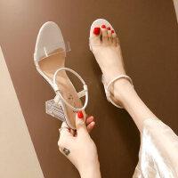 韩版女士休闲凉鞋性感气质高跟鞋时尚仙女风温柔鞋