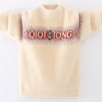 男孩毛衣男童中大童加绒大童套头秋冬款潮儿童打底衫