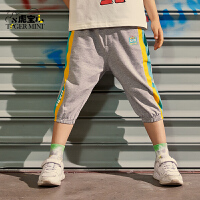 【2件3折:53.7元】小虎宝儿男童纯棉薄款七分短裤2021夏季儿童外穿中大童运动