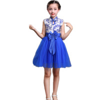 儿童演出服合唱服女童中国风连衣裙男童表演服装幼儿园舞蹈服