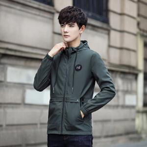 男士外套春秋装2017秋季新款韩版潮流修身帅气青年棒球服男装夹克