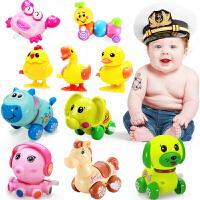 儿童女孩宝宝6-12个月1-2周岁3会跑会动的发条玩具小动物