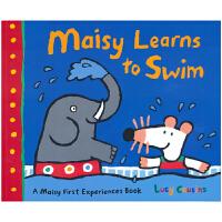 Maisy Learns to Swim 小鼠波波学游泳 英文绘本原版 儿童英语故事 英文原版进口图书