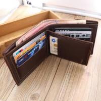 钱包男短款三折男士钱夹横款男学生卡包软皮青年休闲商务皮夹手包