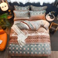 6D雕花珊瑚绒床上用品四件套法兰绒双面法莱绒床单被套冬季4件套 2.0m床笠款(床笠尺寸180*200 被套尺寸2