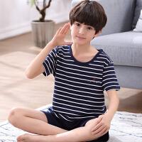 儿童睡衣男童薄款男孩纯棉套装小孩夏天中大童12岁15 S码/150 建议65-80斤左右
