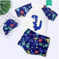 儿童泳衣男童小中大童分体游泳衣宝宝婴幼儿防晒泳裤套装游泳装备