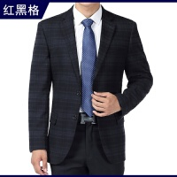 中老年商务休闲男西服中年男士西装外套加大码父爸爸装春季薄款