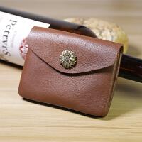 复古手工零钱包头层植鞣牛皮硬币包男女迷你真皮卡包小钱包驾照包