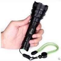 持久耐用照明手电探照灯户外家用灯手电筒LED 强光手电筒远射充电防水
