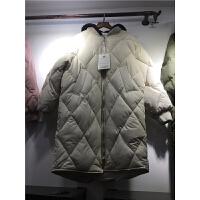 G5棉衣女中长款新韩版棒球服棉袄宽松冬季学生面包服1.05