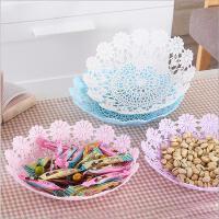时尚镂空果盘塑料果篮干果盘欧式糖果零食盘子水果点心盘