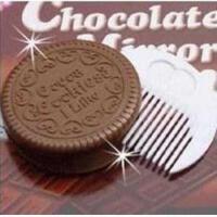 诱人巧克力夹心饼干化妆镜子/巧克力便携镜