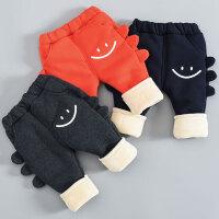 男童加绒裤子宝宝棉裤三层夹棉婴儿冬季外穿保暖裤