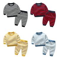 婴儿秋装1个月男宝宝加绒保暖女童洋气套装秋冬装