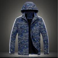 冬季加肥加大码男士迷彩运动棉衣胖子户外防风保暖加绒棉袄男外套 6