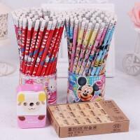 迪士尼米奇儿童卡通铅笔带橡皮72支可爱桶装小学生写字HB安全无毒
