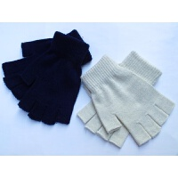 韩观韩版春秋薄款针织半指手套 男女士通用魔术露指手套 户外工作手套