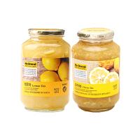 【网易考拉】【超高性价比】No Brand , 蜂蜜柚子茶+柠檬蜂蜜茶 2000 克/罐 润嗓润肺 丰富维C