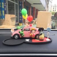 老爷车车模摆件可爱卡通装饰品 凯蒂猫汽车车载甲壳虫香水座