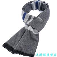 男士围巾冬季格子韩版加厚 围脖年轻人冬天学生英伦简约百搭
