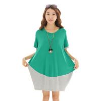 慈颜 孕妇连衣裙 时尚韩版孕妇装 夏装宽松大码FFqa2
