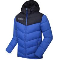 KELME卡尔美 K090S 男式足球运动羽绒服 连帽保暖中长款冬季训练外套 户外羽绒服 拼色款