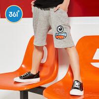 【2件3.5折价:34.65】361度童装男童裤子儿童针织五分裤短裤2018年夏季新款儿童裤子N51824502