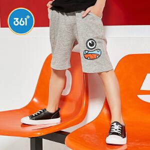 【下单立减2折价:19.8】361度童装男童裤子儿童针织五分裤短裤夏季新款儿童裤子N51824502