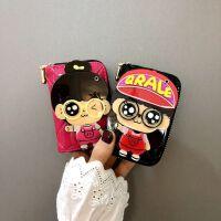 卡包女式韩国可爱卡通个性小巧迷你多卡位银行卡韩版风琴卡片包萌