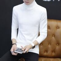 高领毛衣男冬季保暖韩版修身潮新款长领男士英伦打底针织线衫