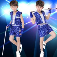 儿童爵士舞亮片服装少儿团体舞台演出服街舞表演服潮
