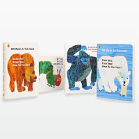 艾瑞卡尔 名家作品组合 英语入门必收好书 brown bear+polar bear +From Head to To