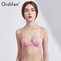 欧迪芬O+女士内衣全蕾丝性感胸罩少女薄款聚拢上托文胸PB8308