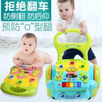 谷雨学步车宝宝手推车儿童玩具婴儿防侧翻音乐助步车6-18个月1岁7