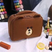 化妆品收纳包韩国可爱小号便携大容量多功能少女心软妹化妆包