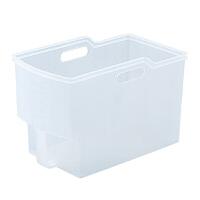 日本厨房收纳箱塑料家用整理箱橱柜储物箱抽屉大号柜子置物箱 透明 F-2401 33*18.5*20 cm