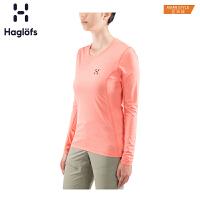 Haglofs火柴棍户外女款快干透气圆领长袖T恤603831 亚版
