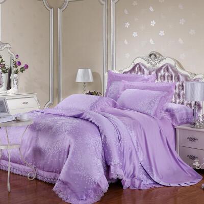 家纺床上用品婚庆床品四件套天丝莫代尔贡缎全棉欧美宫廷风