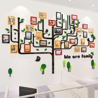团队照片3D立体墙贴公司办公室装饰幼儿园墙面布置客厅创意相框树 1514照片墙-红橙黄深绿浅绿黑 超
